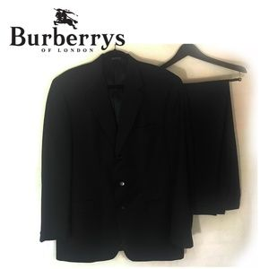 Burberry 2 Piece Wool Suit Charcoal Jacket Pants